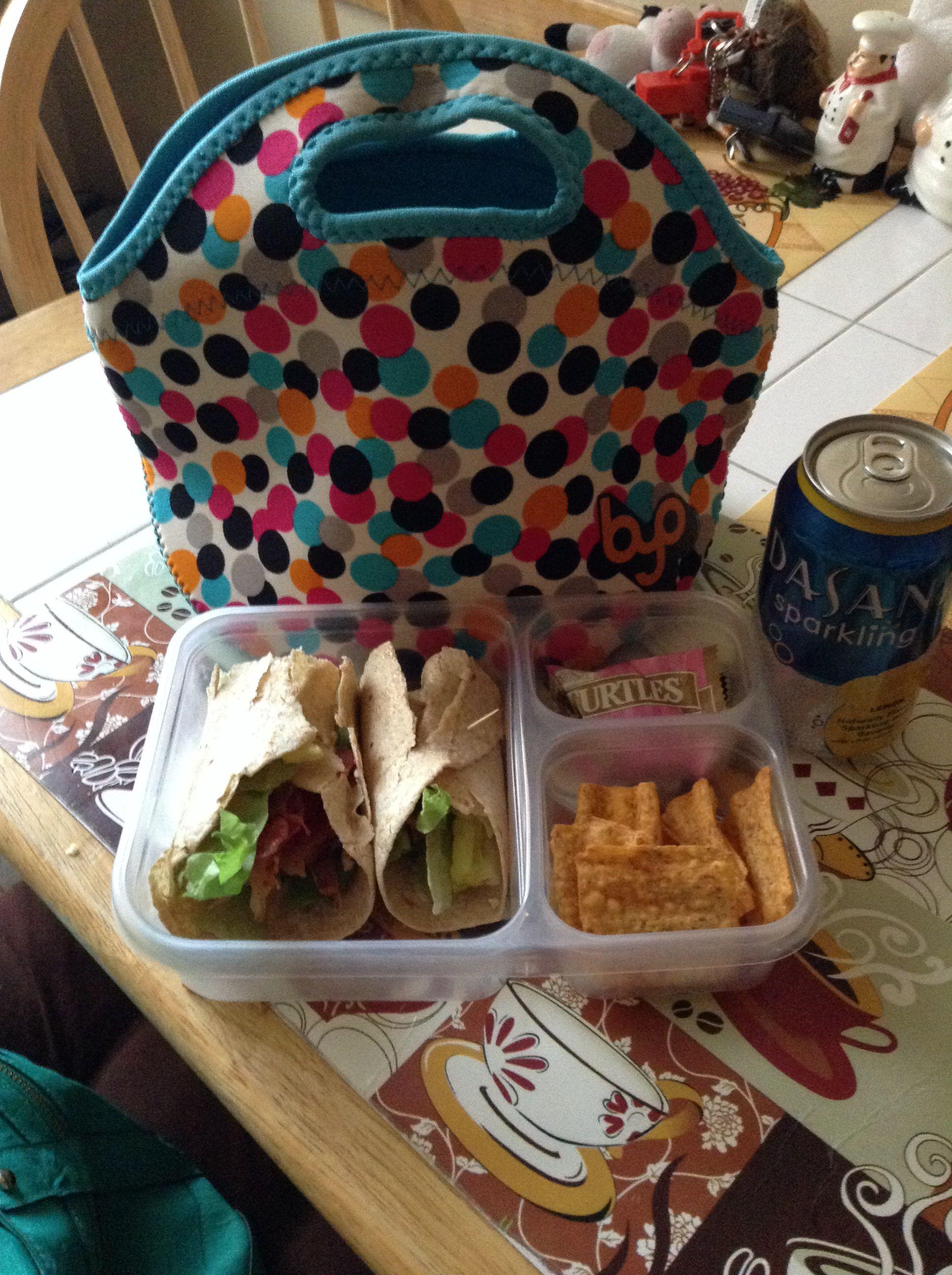 Work Lunch: BLT Wrap, Sun Chips Garden Salsa, DeMet\'s Turtle, Dasani ...
