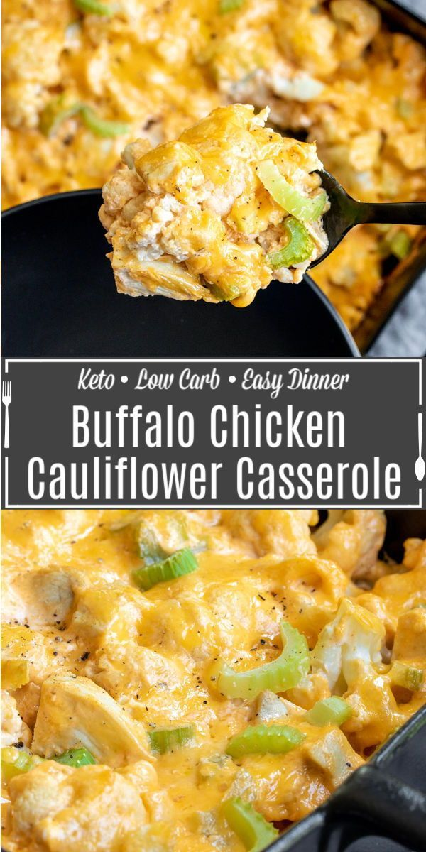 Keto Buffalo Chicken Cauliflower Casserole