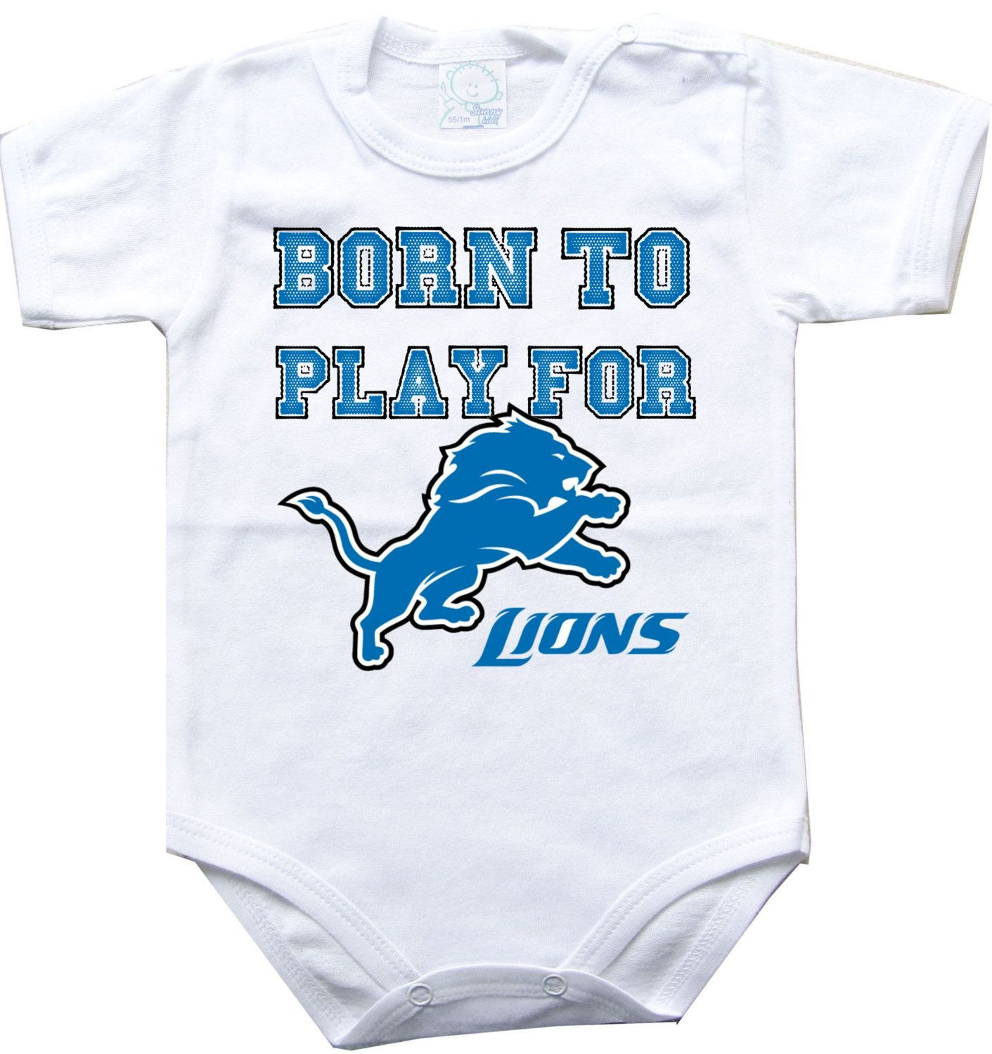 Baby bodysuit Born to play for Detroit Lions football NFL e Piece