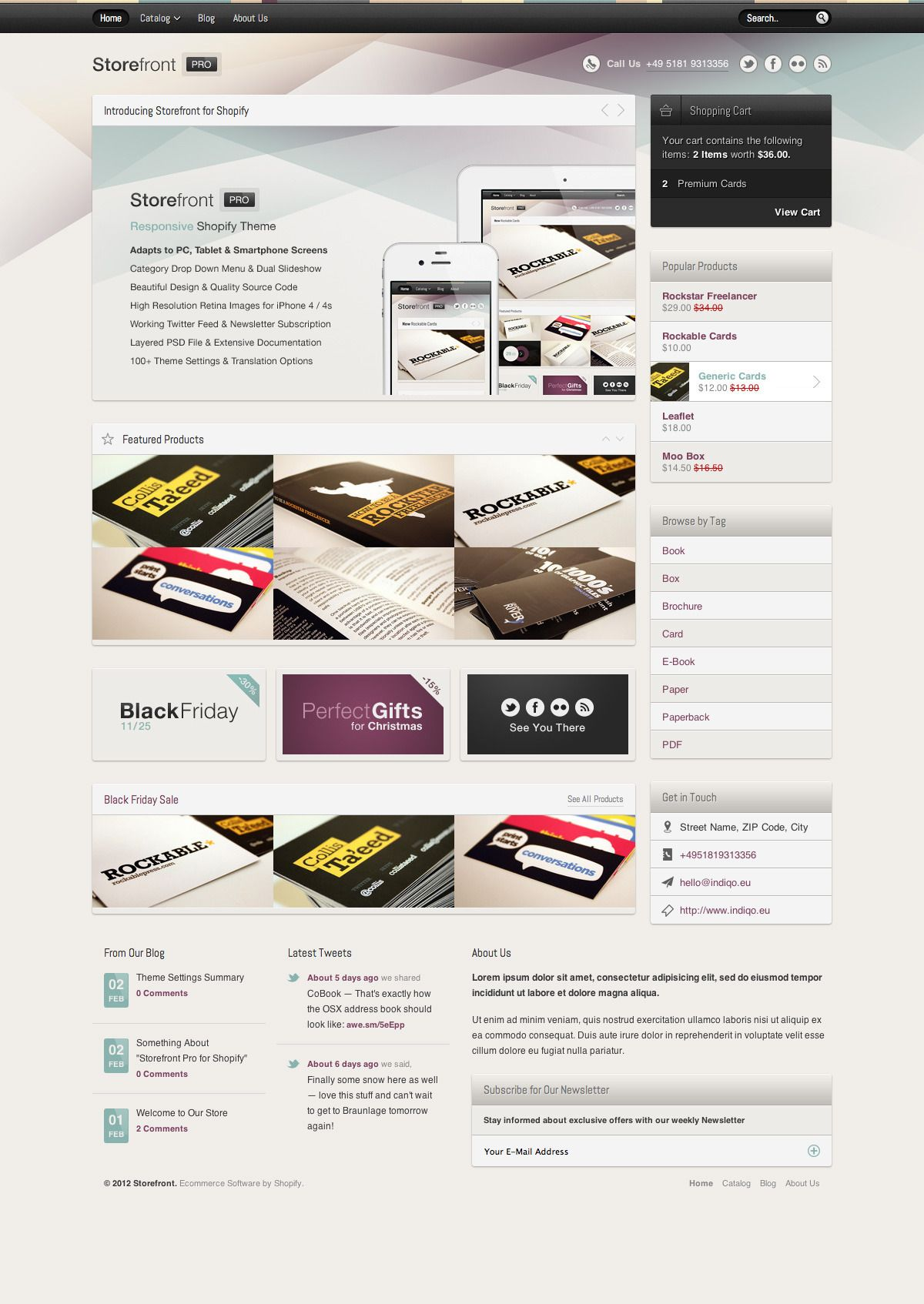 Storefront Pro for Shopify - Premium Theme #Pro, #Storefront
