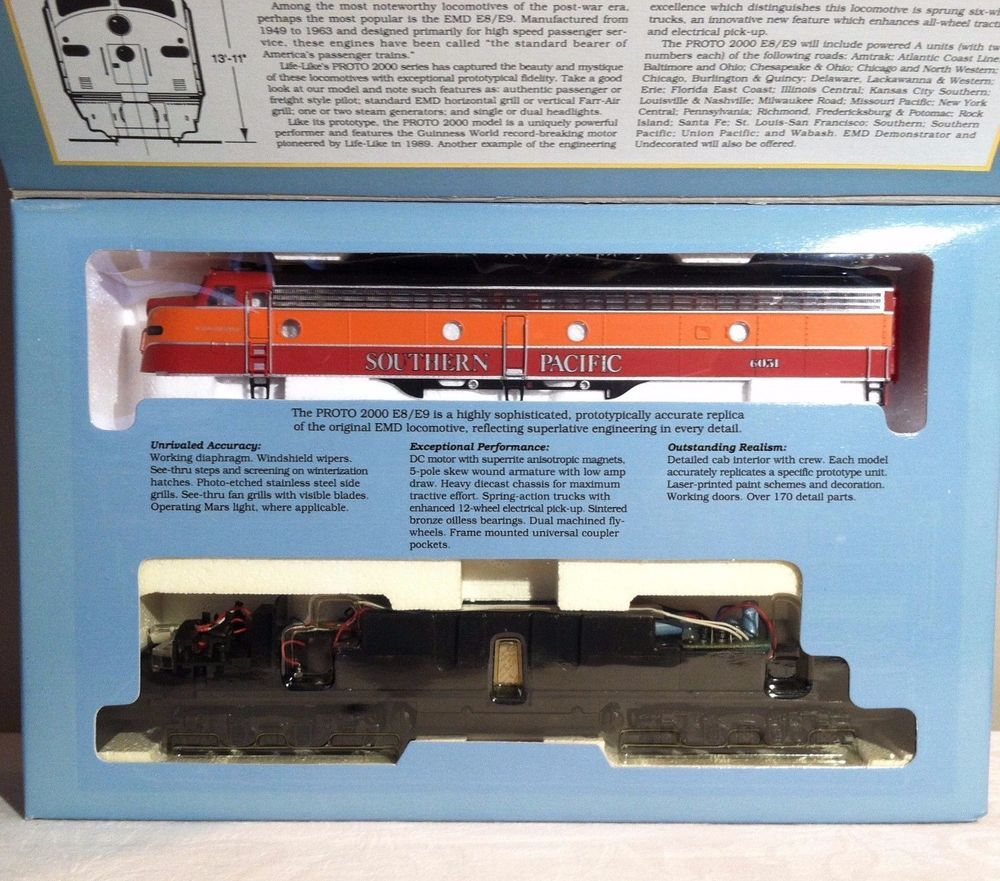Proto 2000 Series E8/9 Locomotive Southern Pacific #6051 HO Scale - New In Box #Proto2000Series