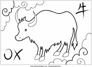 Ox Colouring Pages New Year Coloring Pages Chinese New Year Crafts For Kids Chinese New Year Crafts