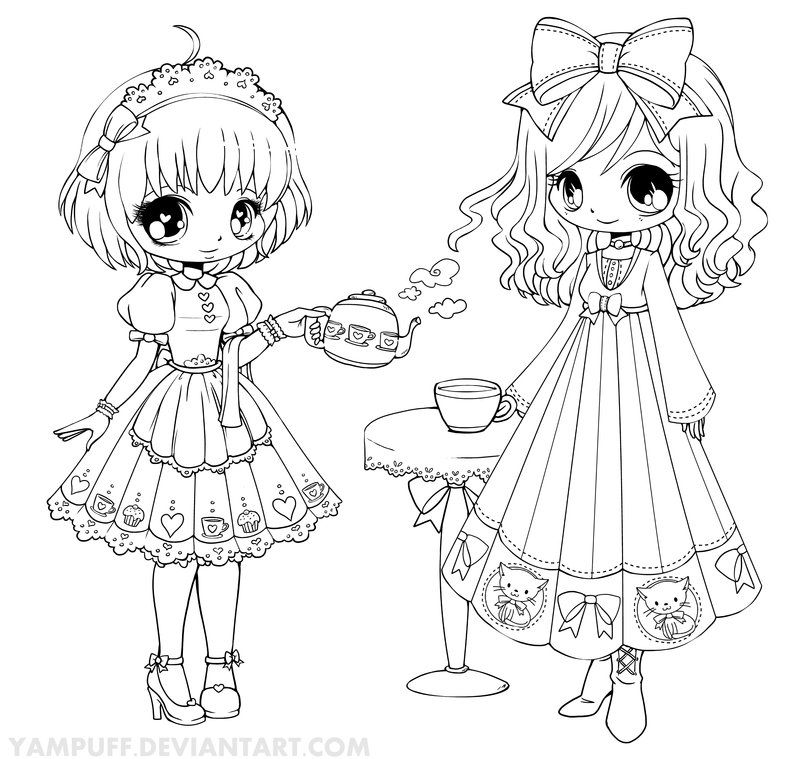 Yampuff S Deviantart Gallery Chibi Coloring Pages Coloring Pages Coloring Pictures