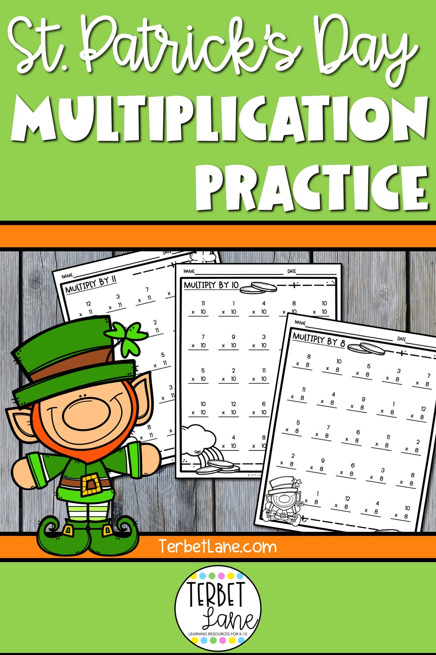 St Patrick S Multiplication Worksheets In