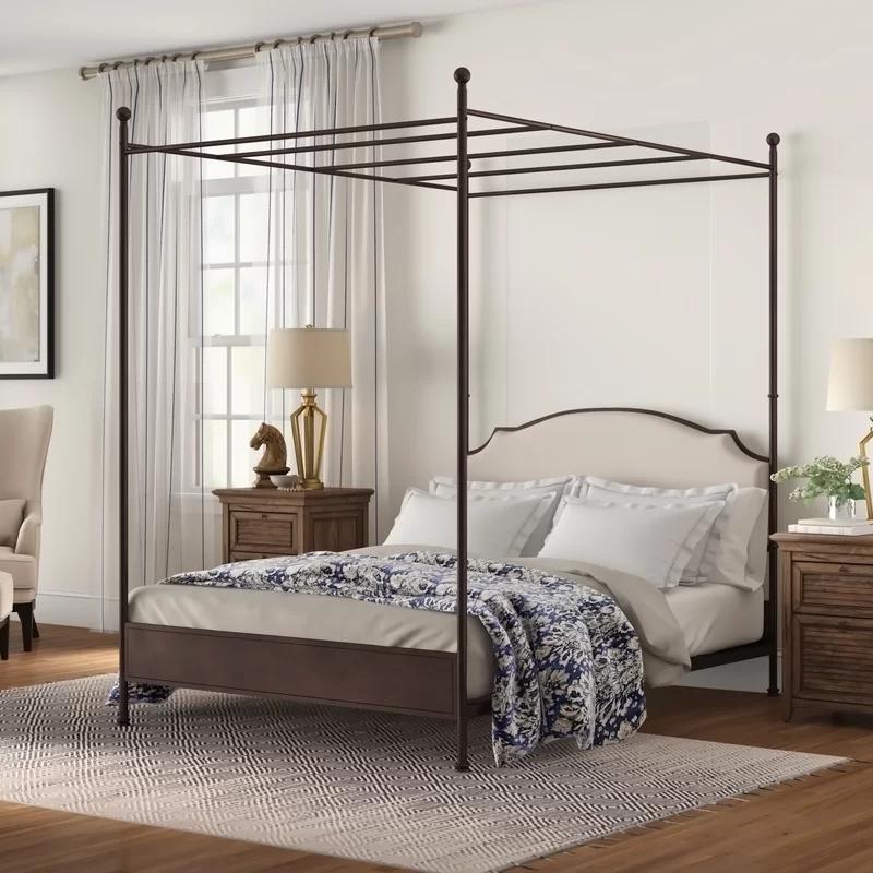 Rockledge Upholstered Canopy Bed in 2020 Adjustable beds