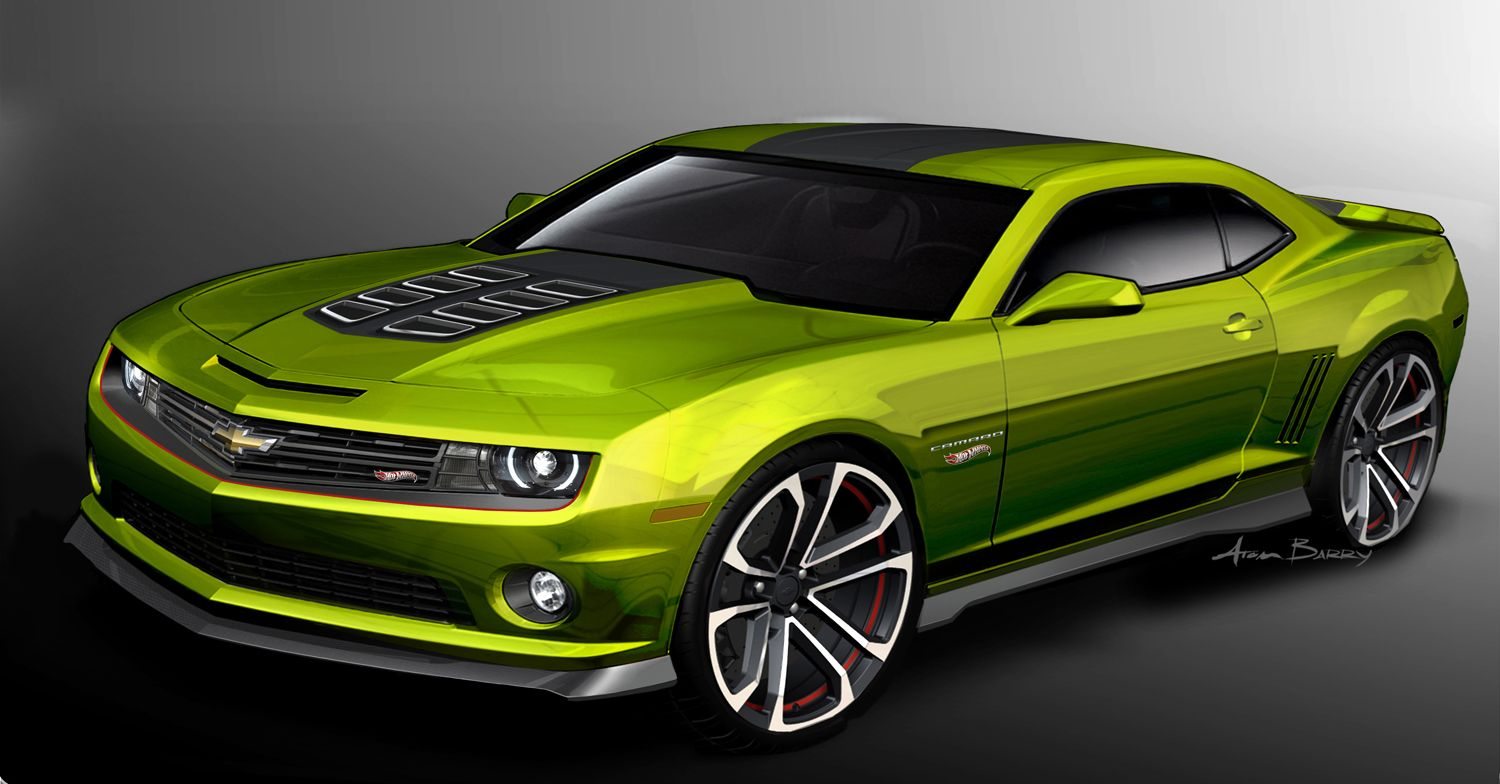 A thorough look at the full size chevrolet camaro hot wheels concept car and its special paint process unveiled at the sema show