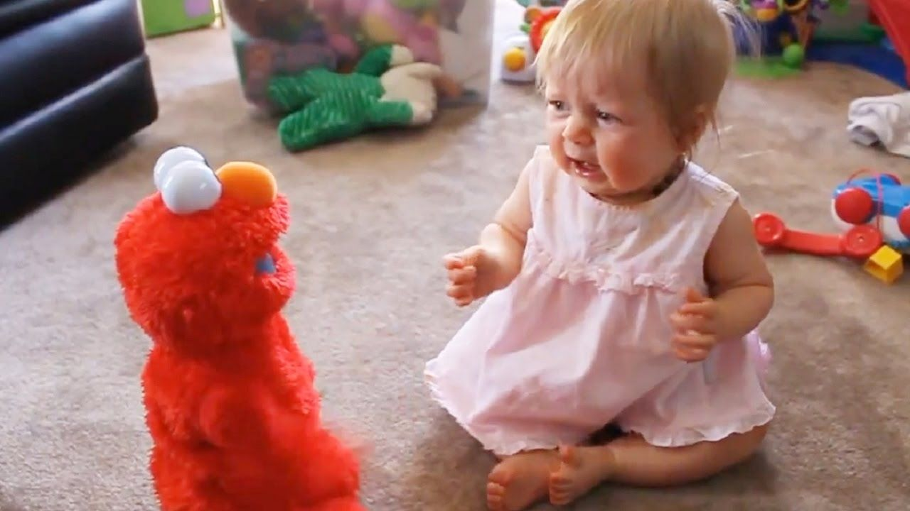 Babies Screaming And Crying When Elmo Laugh Most Humorous Face Of