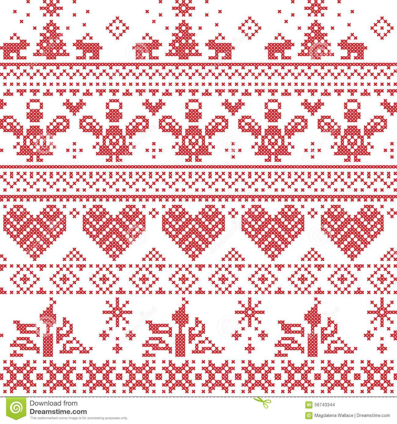 Різдвяна вишивка схеми та ідеї для скатертин та серветок