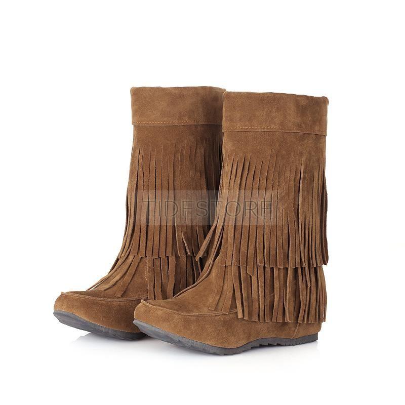Tassel Elevator HeelWomen Boots . Tassel Elevator Heel Women Boots