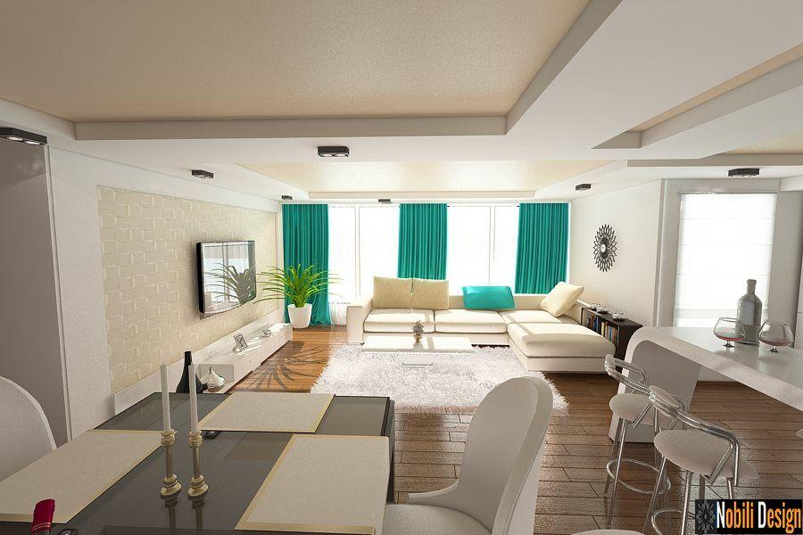 Design interioare living case vile moderne Interior