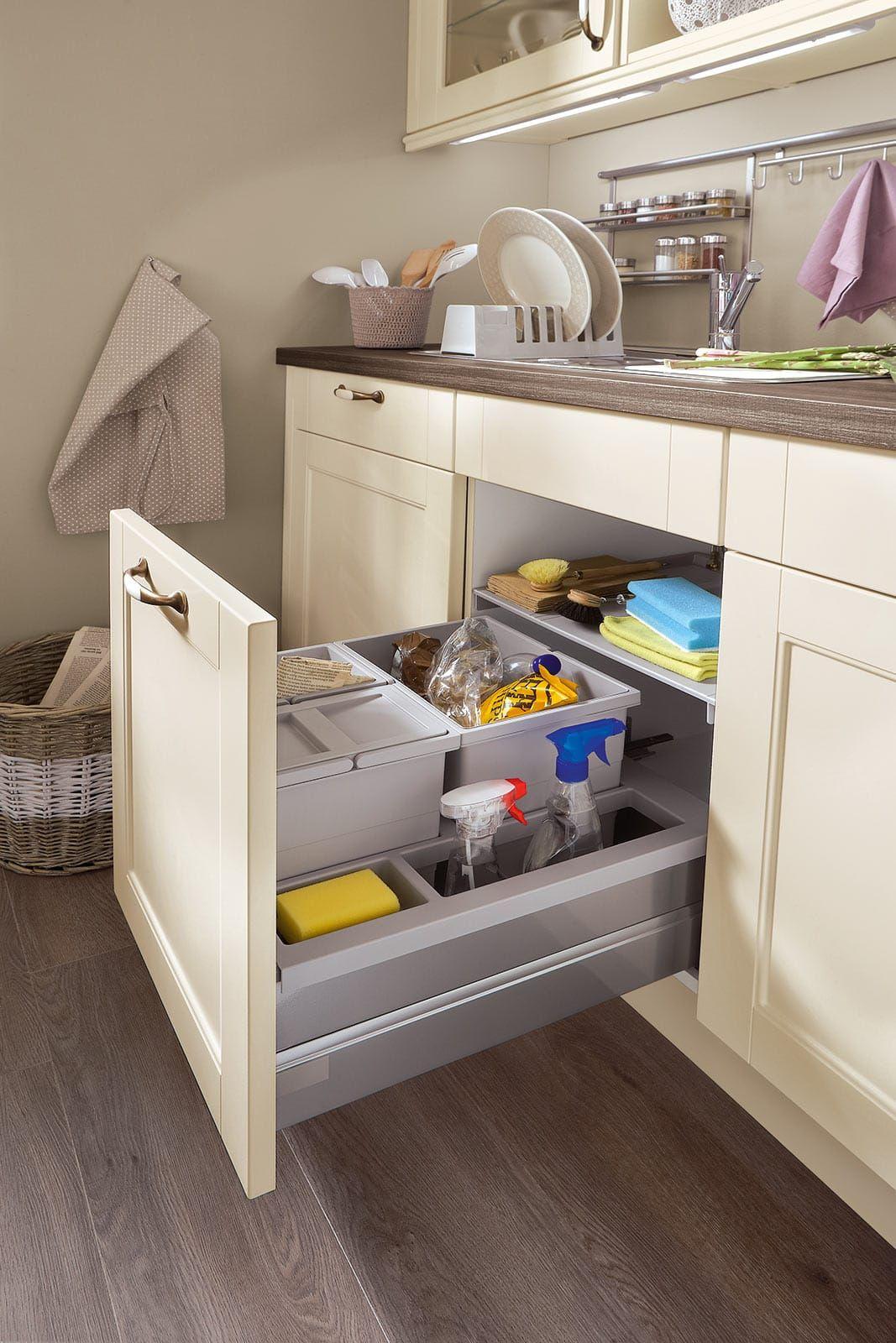 Abfallsystem Einbauküche Creme Norina 7365