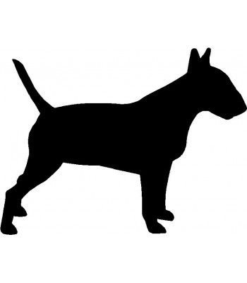 English bull terrier Sticker silhouette Car wall bumper window decal Dog breed 3