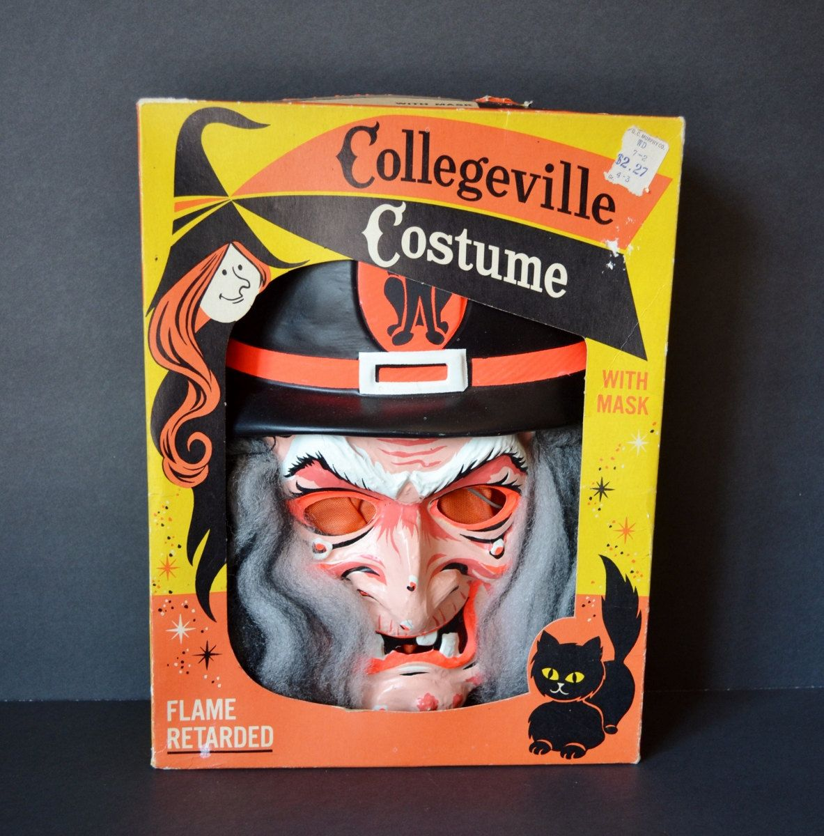 Vintage Collegeville Halloween Witch Costume Mask