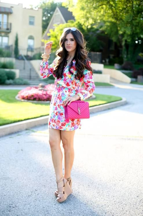 Floral Shirt Dress Summer Style