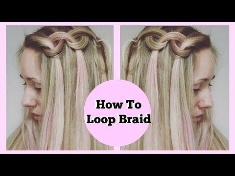 Easy Big Loop Braids Hair Tutorial - YouTube