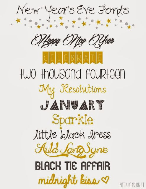 Put A Bird On It My Love Monday New Year S Eve Fonts New Years Eve Invitations I Love Mondays Newyear