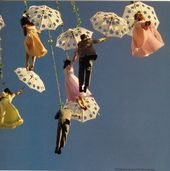 An entry from  laurinda, oc, aes, umbrella, flying, figure, white, yellow, pink, black, blue, sky    This image has get 0 repins.    Author: Jule Mizu #entry #yellowaestheticvintage