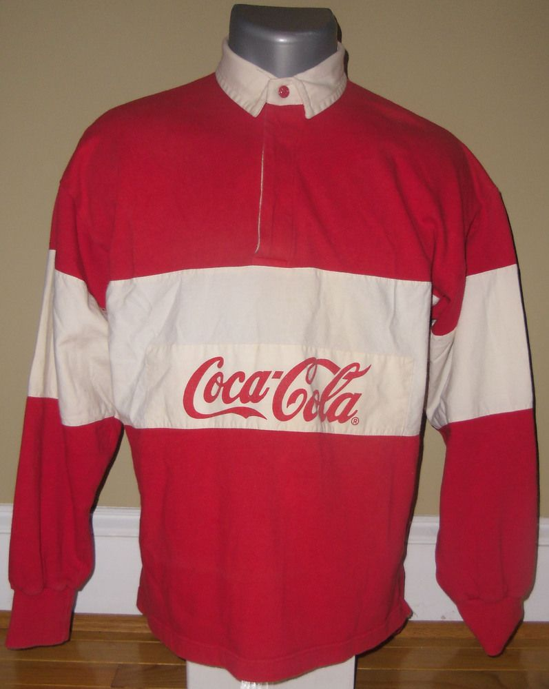 coca cola rugby shirts had this childhood pinterest. Black Bedroom Furniture Sets. Home Design Ideas