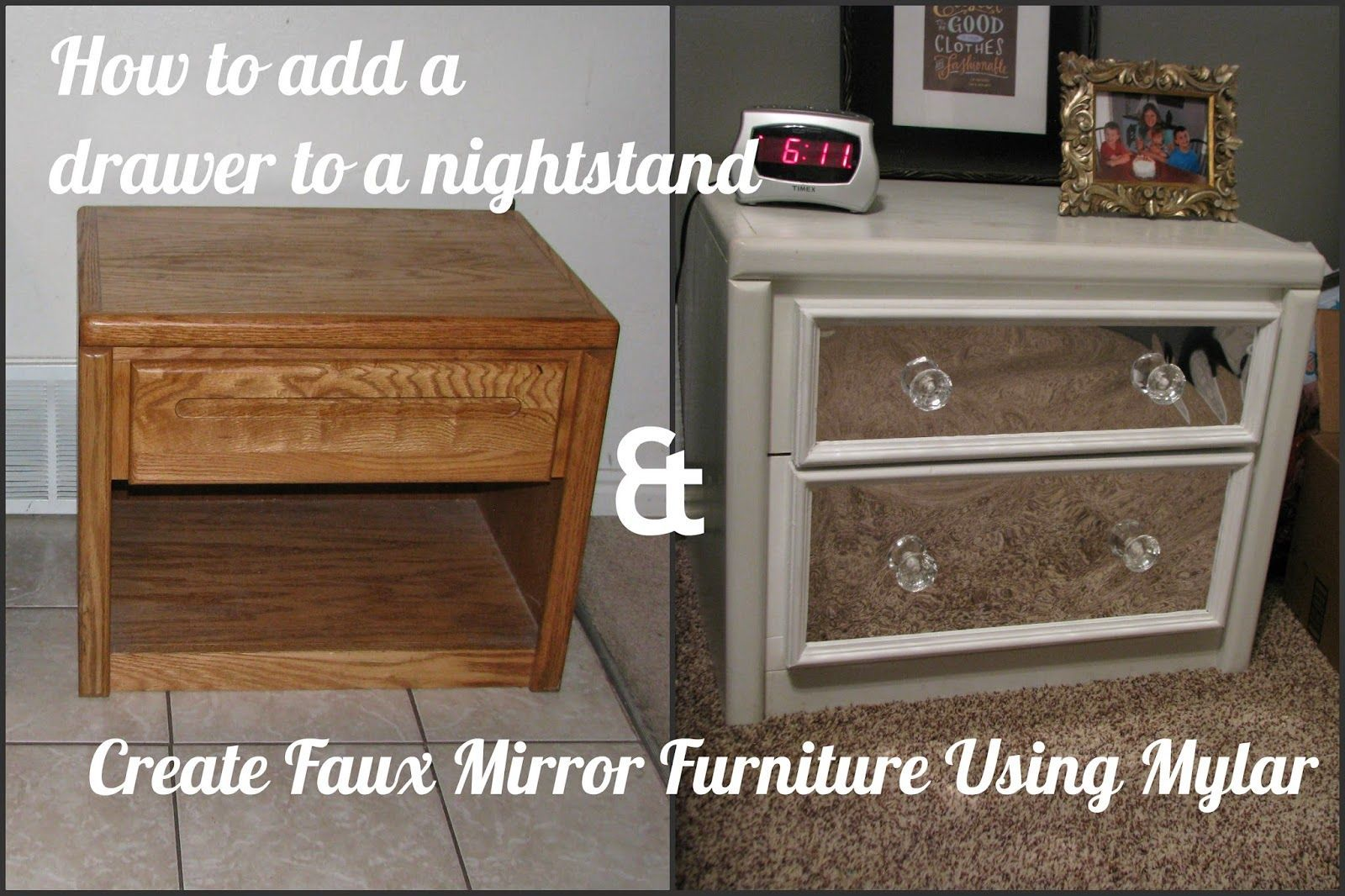 My So Called Diy Blog How To Add A Drawer To A Bedside Table And
