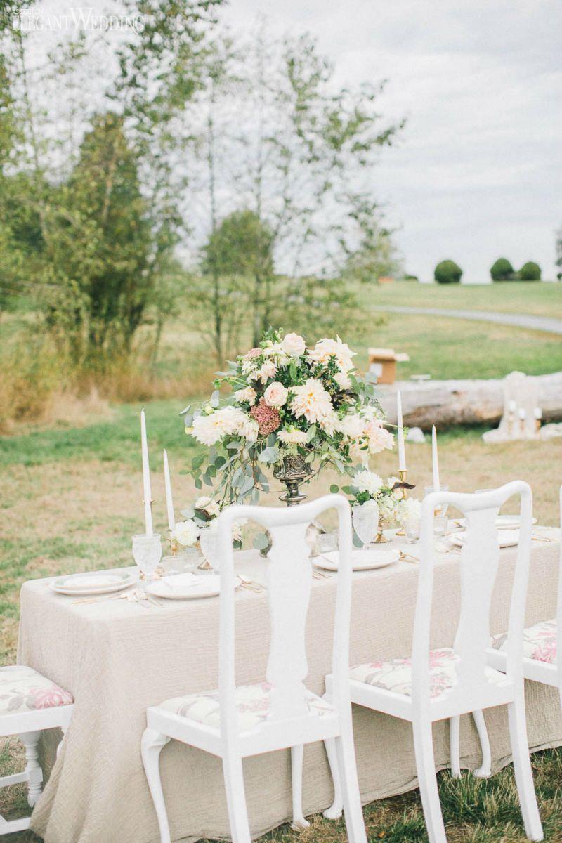 Outdoor Boho Wedding Table Setting www.elegantwedding.ca   Wedding ...