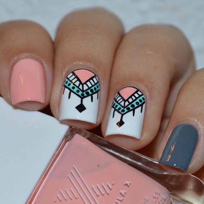 Cool Tribal Nail Art Ideas and Designs. Work to mark rites of passage,  helped identify family members or work as a charm to ward off evil spirits. - Pin By Missis Buena On Дизайн ногтей Pinterest Manicure, Makeup