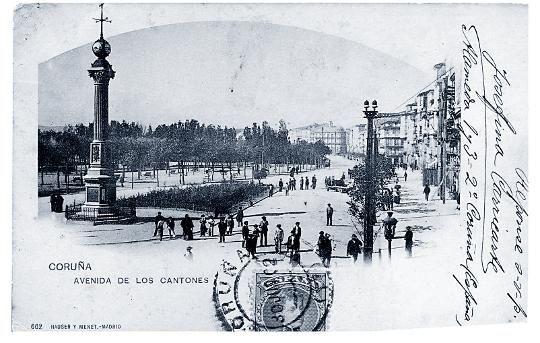 Vistas antiguas de plazas, parques y jardines