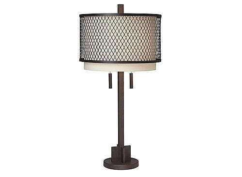 If You Love The Look Of Metal But Want To Keep A Classic Feel In Your Space Try This Mesh Table Lamp Its Clean Lined Metal Desig Lamp Table Lamp Metal Design