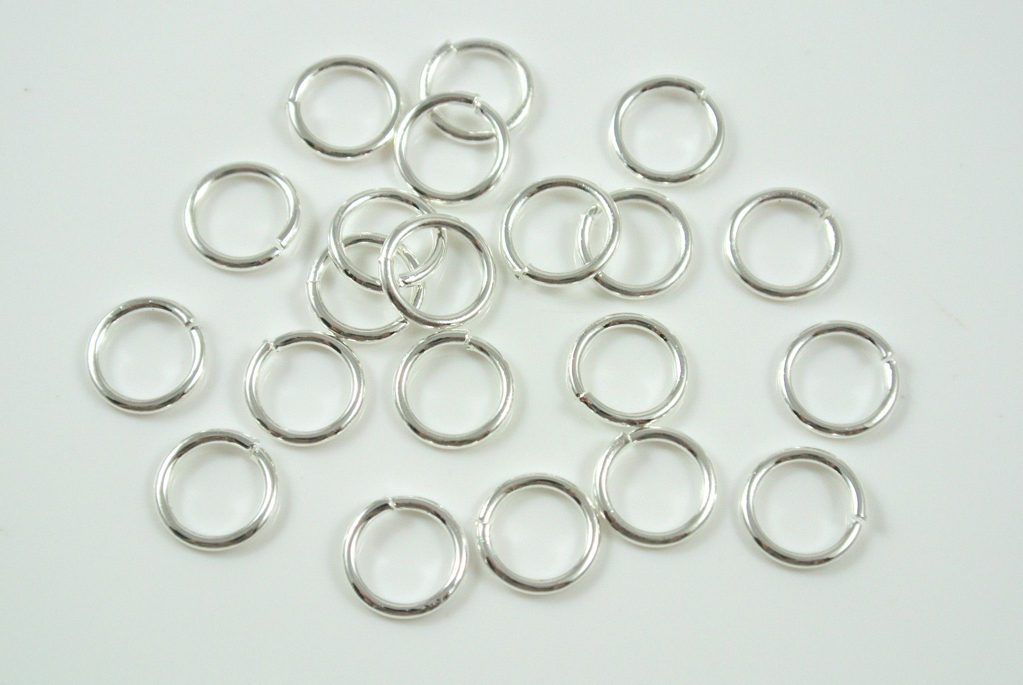 Jumpring Round Open Silver Electroplated 8mm 18g 50 Pieces