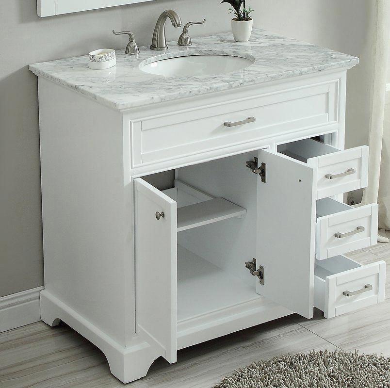 Darry 36 Single Bathroom Vanity Set In 2020 Single Bathroom Vanity Small Bathroom Vanities Bathroom Vanity