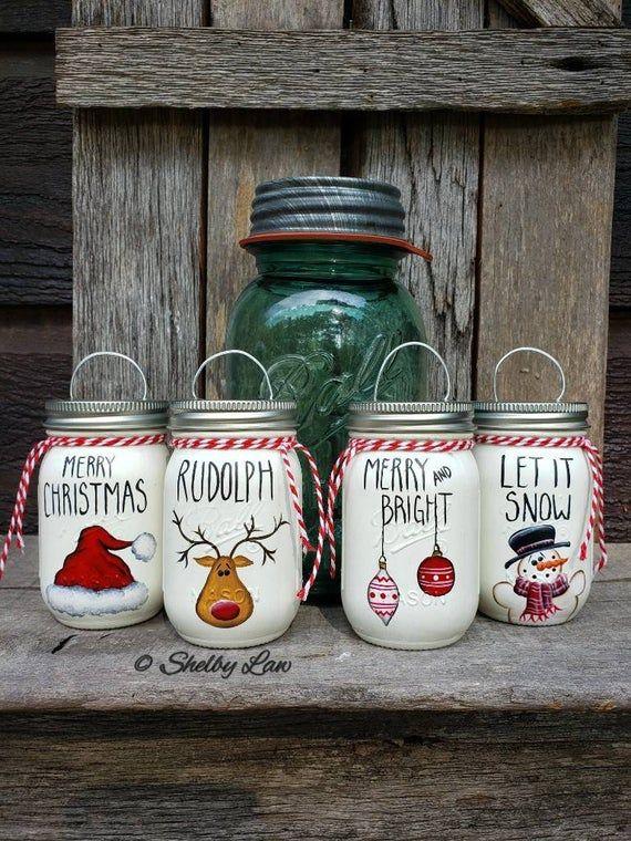 Mini Ball Mason Jar Ornaments