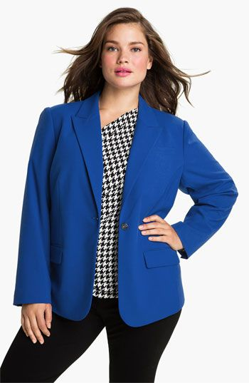Vince Camuto One Button Blazer (Plus) available at #Nordstrom
