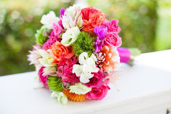 This was my beautiful bright bouquet!