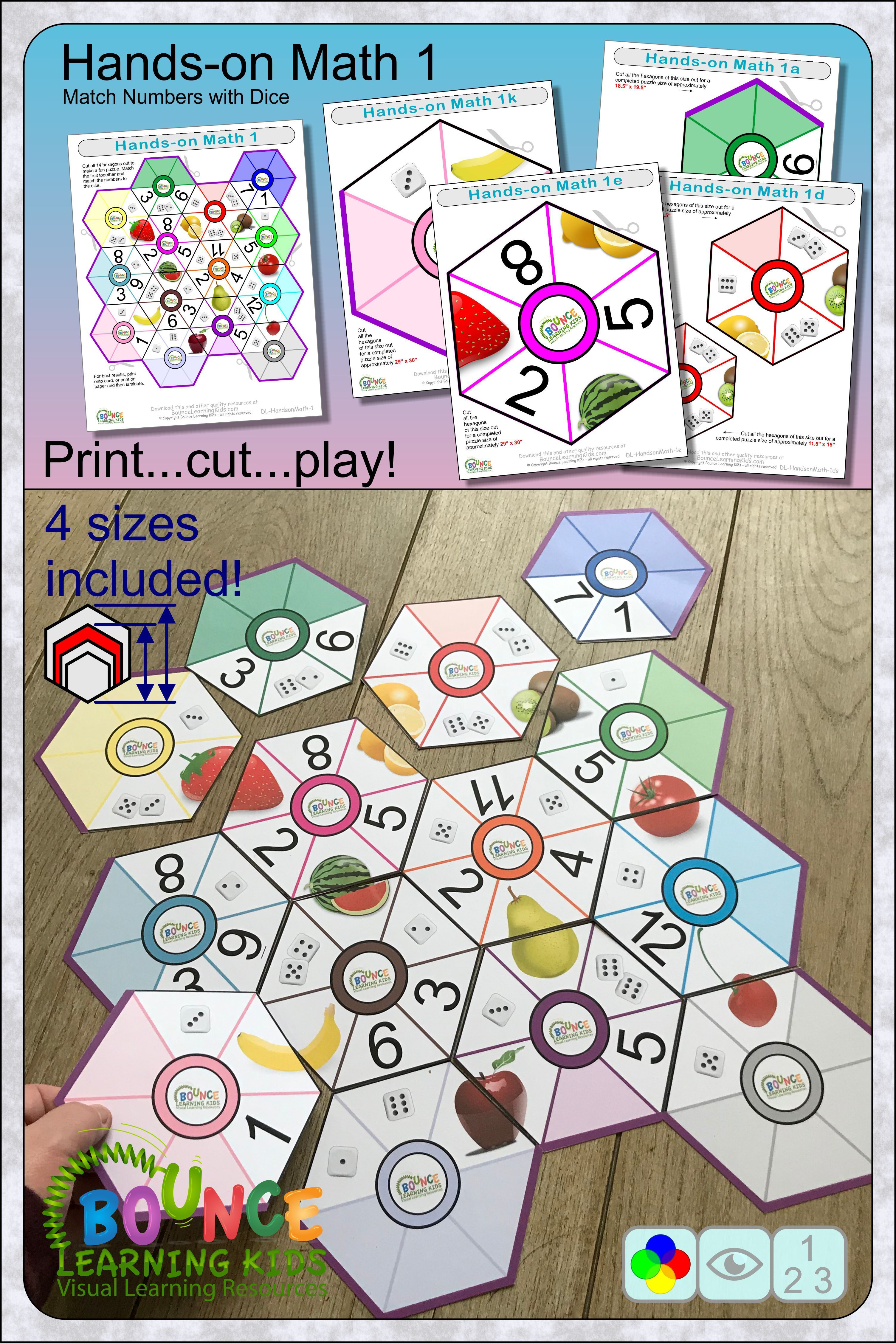 Hands On Math 1 29 Numeracy And Visual Perception Sheets