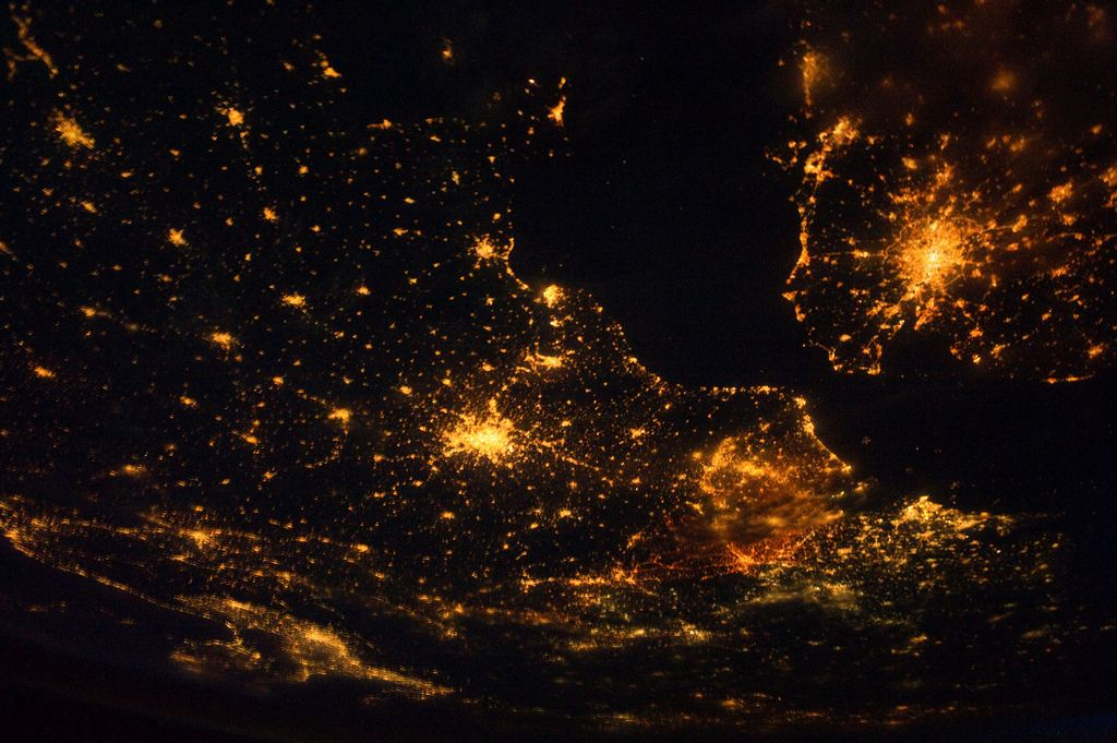 Europe at Night (NASA, International Space Station, 08/10/11) [Explored] | Flickr - Photo Sharing!