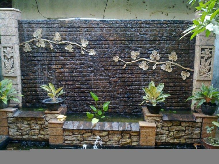 Cascadas para jardín, la belleza de la naturaleza en tu hogar - cascada de pared