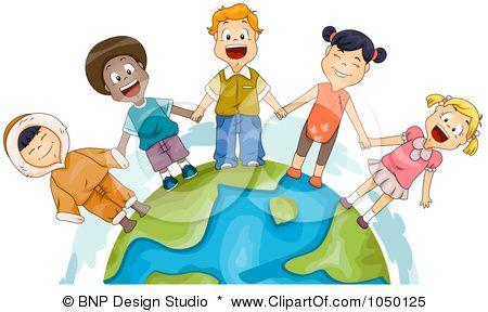 royalty free rf clip art illustration of diverse children holding rh pinterest com