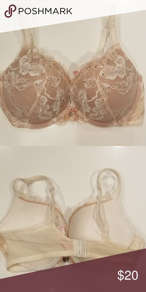 ab29fa0663 Victoria s Secret (Body By Victoria) Push-Up Bra This sparkling bra has  rhinestones in it to accent its beauty. It has been Very Gently Worn.