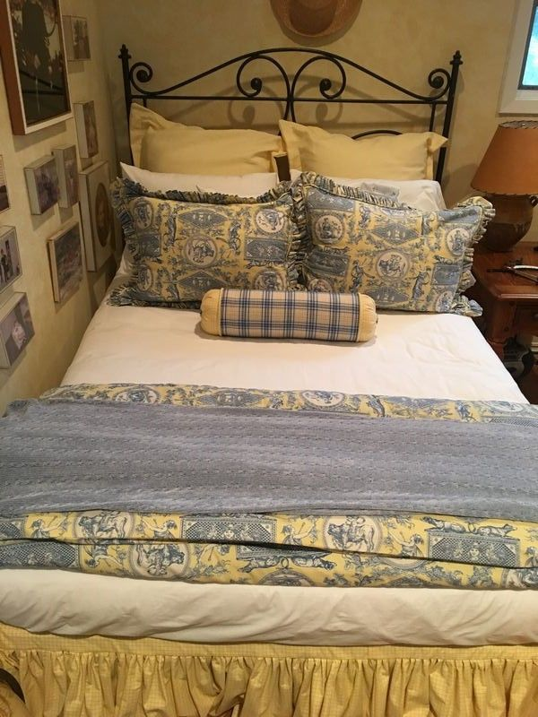 Wrought iron bed (full size), mattress and box spring ...
