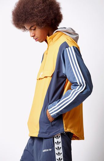 adidas Blocked Half Zip Anorak Jacket at | Anorak