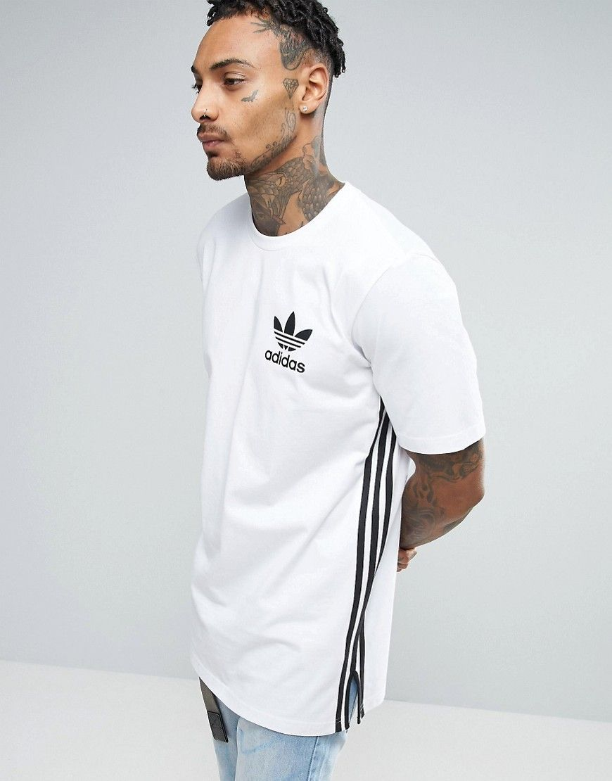 404e5256 ADIDAS ORIGINALS LONGLINE T-SHIRT IN WHITE BK7592 - WHITE. #adidasoriginals  #cloth #