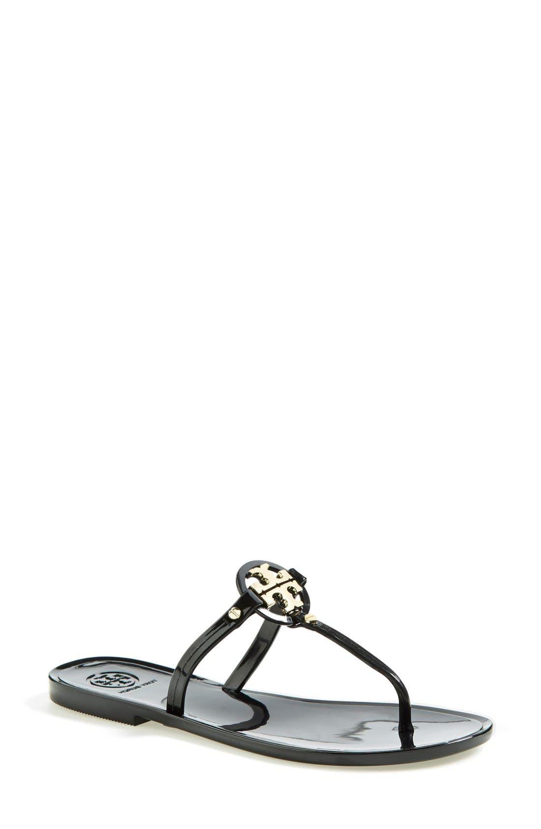99910697e Women's Tory Burch 'Mini Miller' Flat Sandal, Size 5 M - Blue/green ...