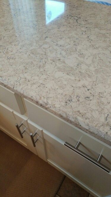 Lg Aria Quartz With Creamy White Cabinets Home