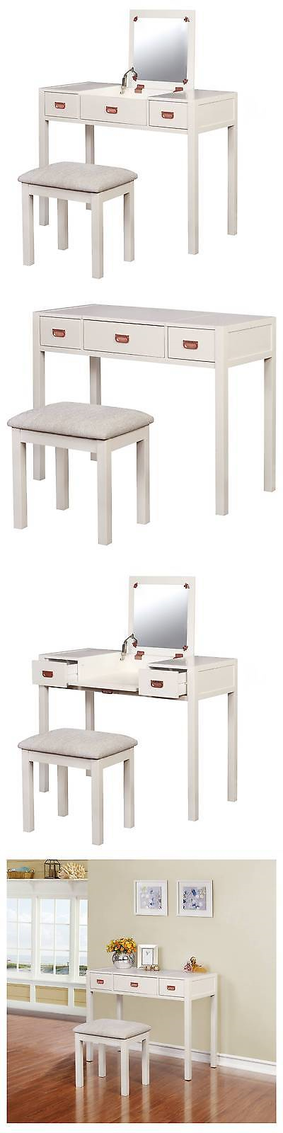 Sets 98478 Audrey Vanity Set - White - Linon -\u003e BUY IT NOW ONLY