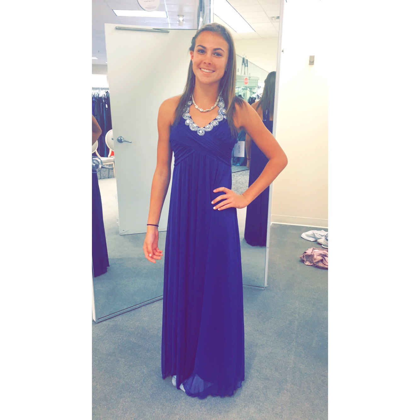 Pretty Formal Dress Long And Dark Royal Blue From Davids Bridal