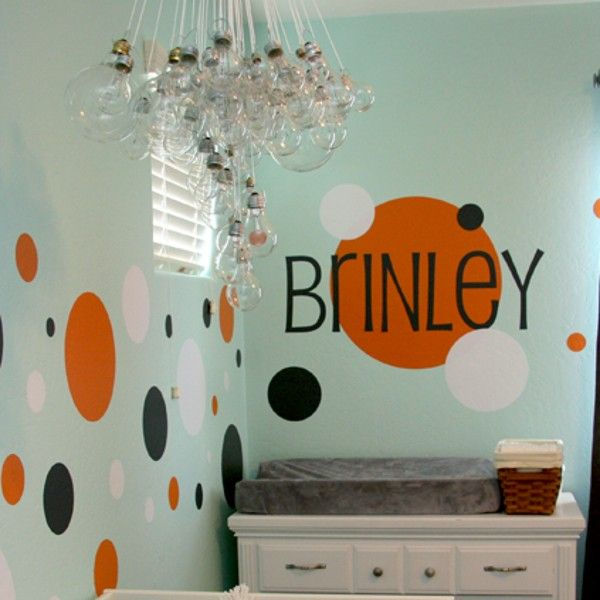 Polka dot wall decals circle wall dots