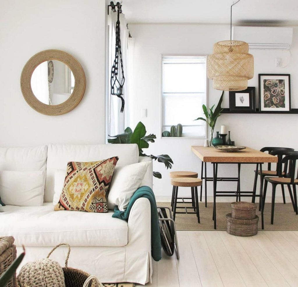 17 boho interiors that are totally rocking the rattan trend ikea dining table ikea dining on boho chic dining room kitchen dining tables id=12603
