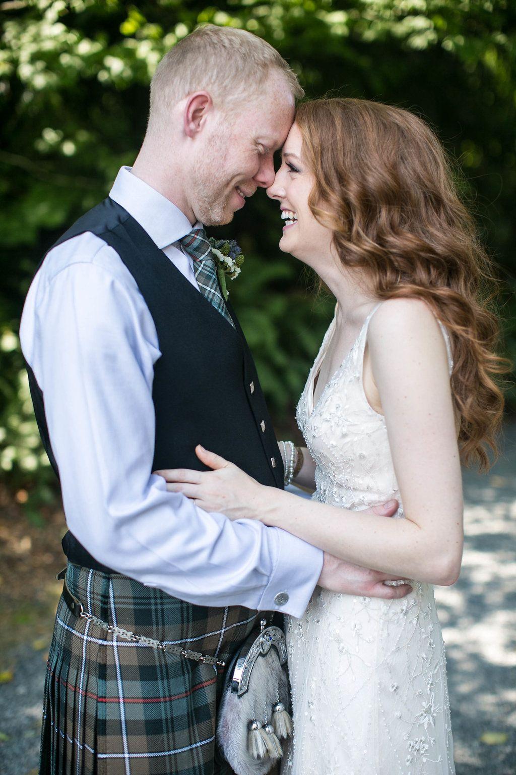 Scottish tartan wedding dress  A Celtic Inspired Wedding at Green Gates  Feathered Arrow Wedding