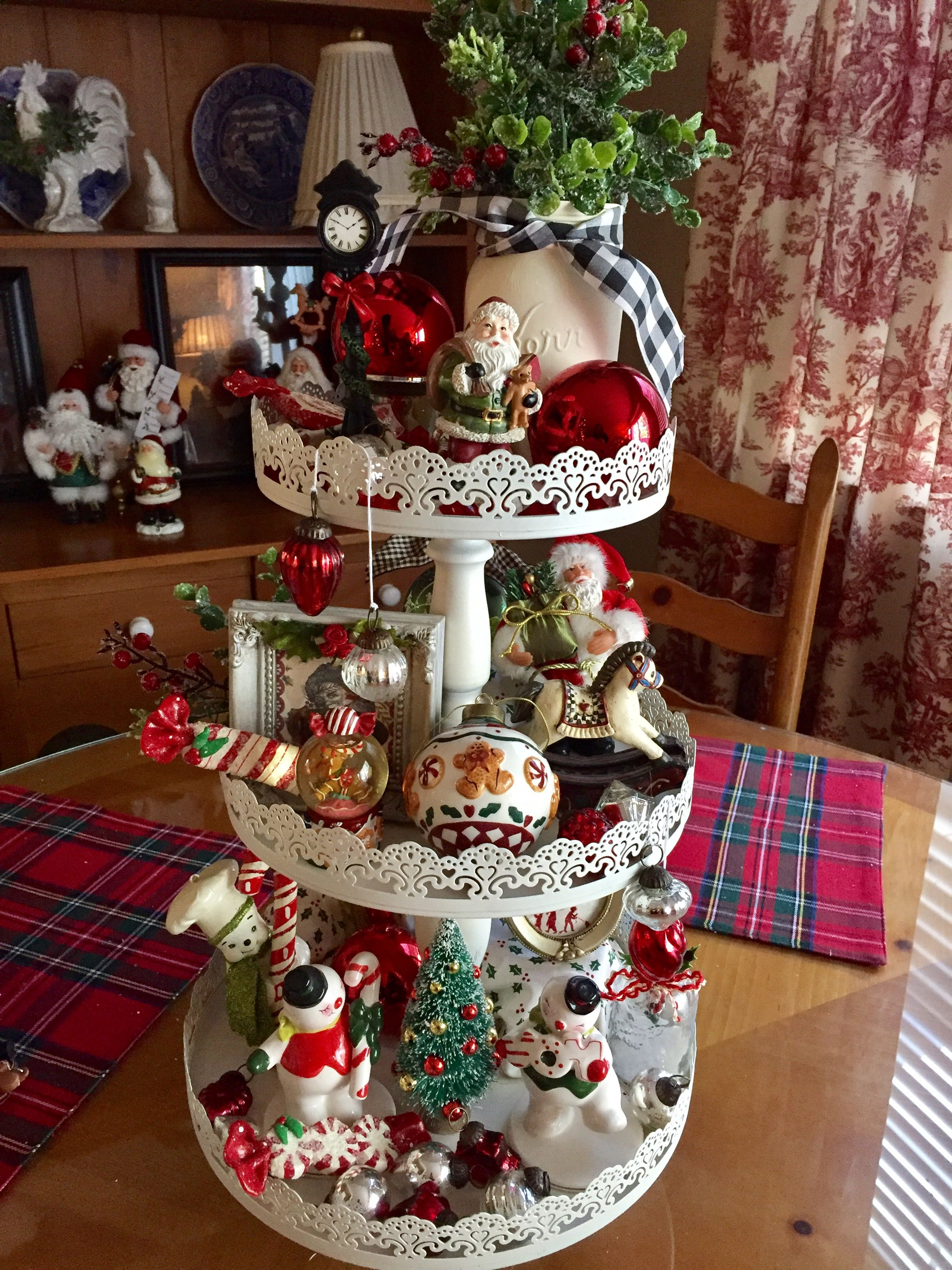 Another beautiful Christmas tier for your table centerpiece