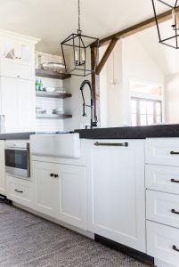 Kitchen Thick Lathered Countertop The Island Becomes Even More Exciting With A Thick Counterto Farmhouse Sink Farmhouse Sink Kitchen Black Granite Countertops