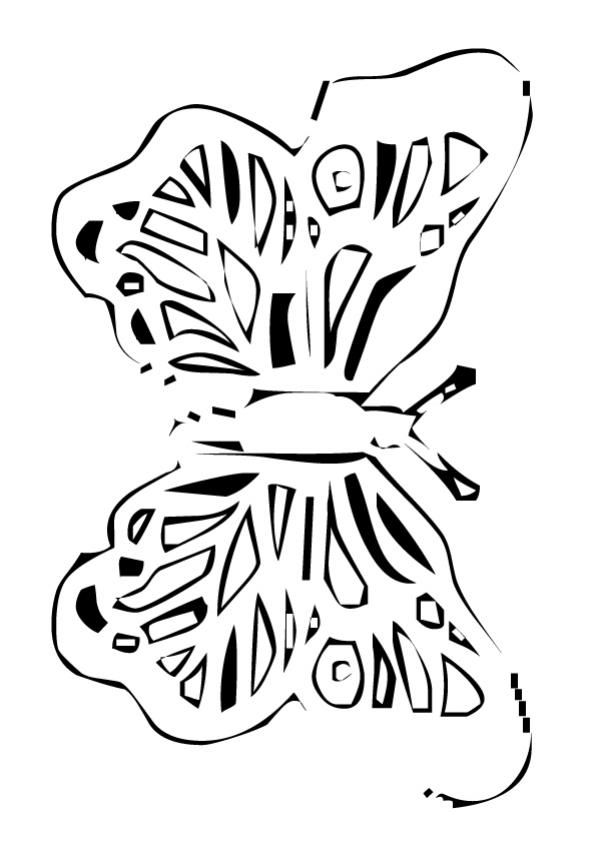 Nice Butterfly coloring page. Beautiful coloring sheet about nature ...